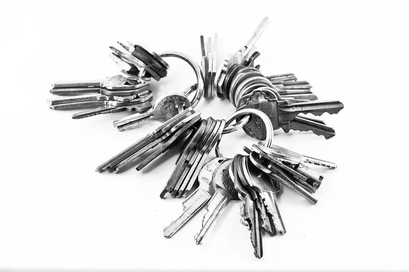 Schlüsselbund um Bunch-Of-Keys als Wallet zu verdeutlichen